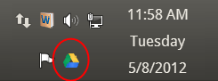 Google Drive client icon in System Tray