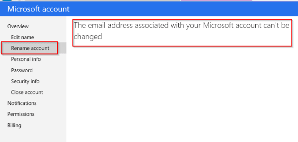 revert to Hotmail not working
