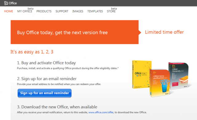 Free Office 2013 Upgrade Offer