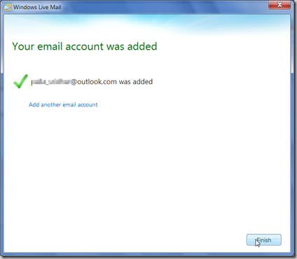 email_account_added_Windows_Live_Mail