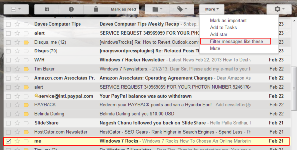 Filter Messages in Gmail