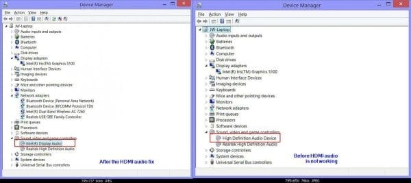 Audio devices appearing in Windows 8.1