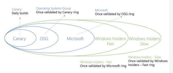 The Development Cycle of Windows 10