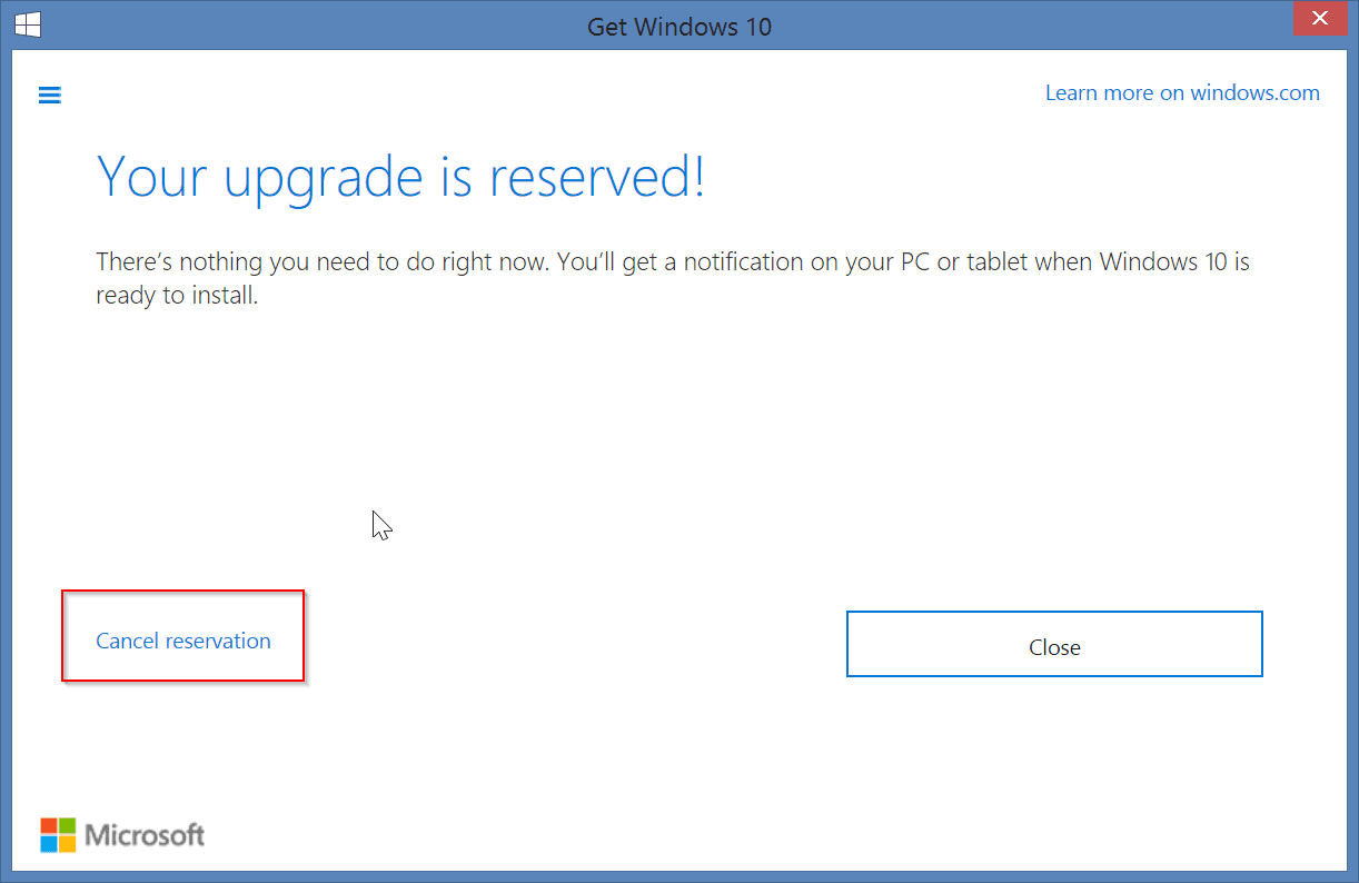 cancel-windows-10-reservation