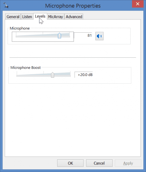 Fix Mic volume too low in Windows 7 or 8 or 8.1