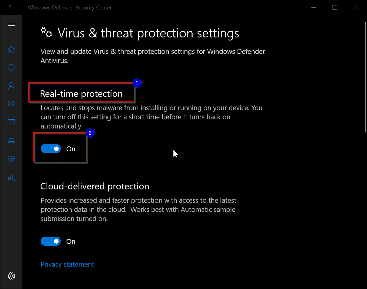 remove windows defender windows 10 1803